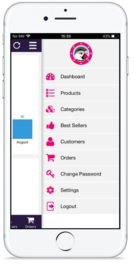 PrestaShop admin app features